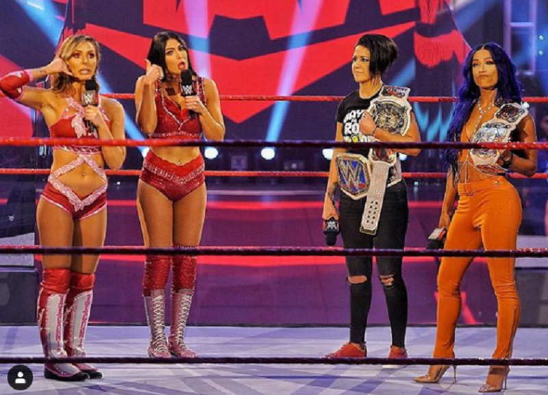 Monday Night Raw Preview 6 22 Wwe Women S Tag Team Championships Bayley And Sasha Banks C Vs The Iiconics Billie Kay And Peyton Royce The Overtimer