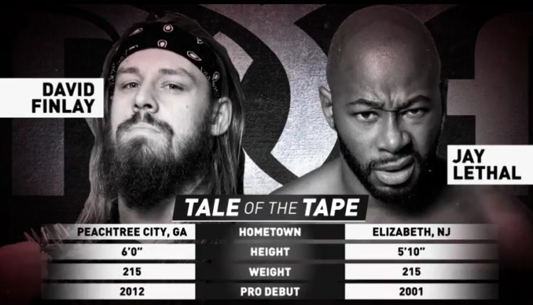 Ring Of Honor Results: Jay Lethal vs. David Finlay [ROH Pure Championship Tournament Second Round]