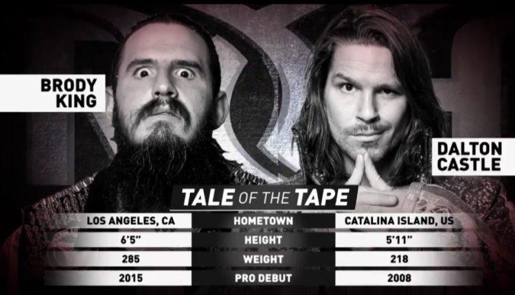 Ring Of Honor Results: Dalton Castle vs. Brody King
