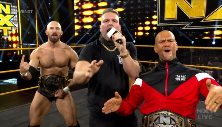 WWE NXT Results: Kings Of NXT (Oney Lorcan & Danny Burch) vs. Breezango [NXT Tag Team Championship Match] - The Overtimer