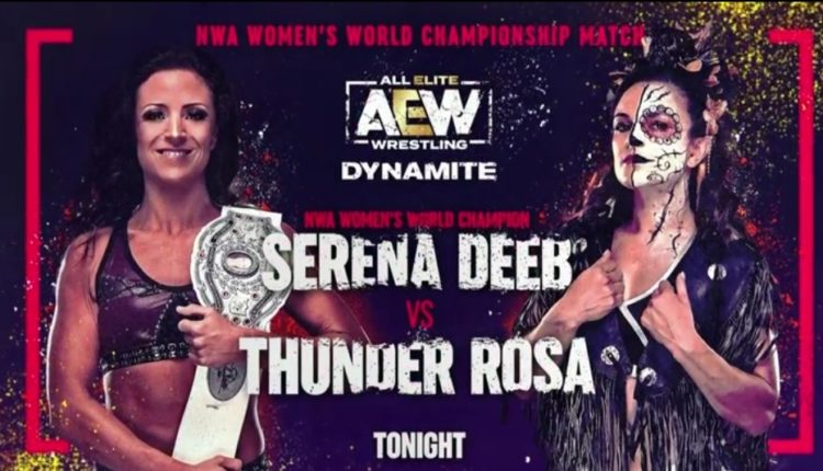 Serena Deeb vs. Thunder Rosa NWA Womens World Title Match Set AEW Dynamite - eWrestlingNews.com