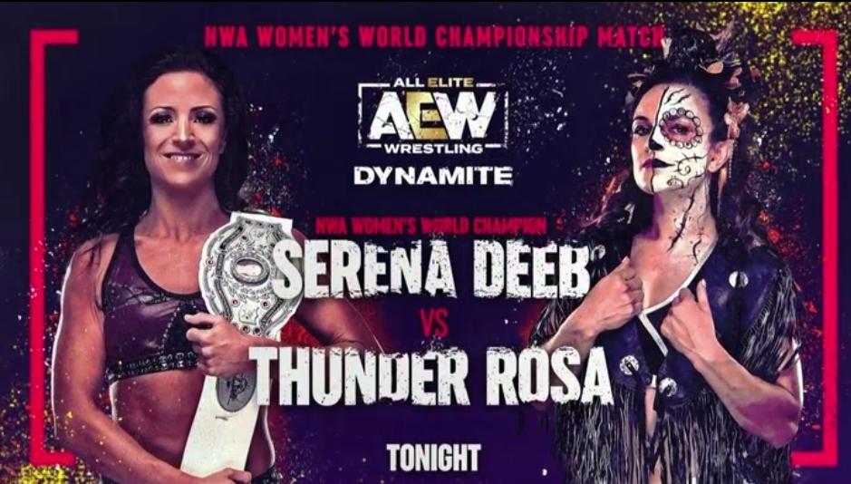 Serena Deeb Vs Thunder Rosa NWA Womens Title Match Set For AEW Dynamite » TWNP-Wrestling News