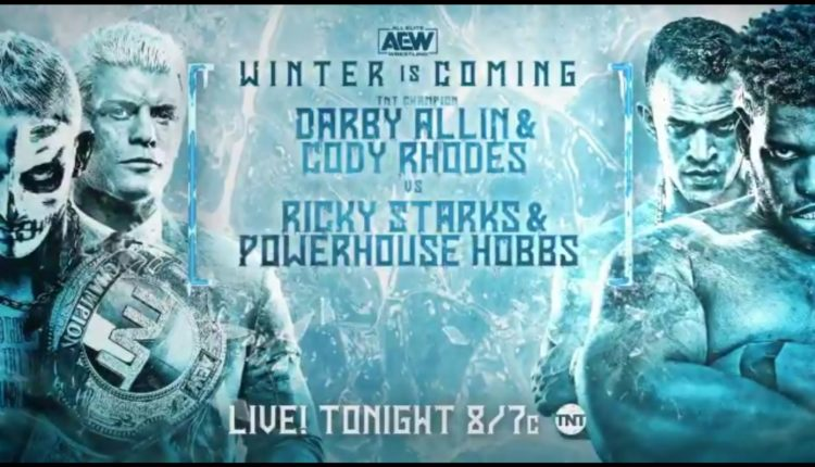 AEW Winter Is Coming Results: Cody Rhodes & Darby Allin vs. Powerhouse Hobbs & Ricky Starks