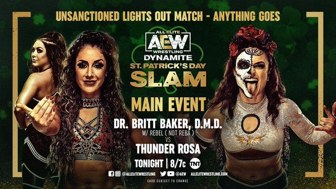 AEW St. Patricks Day Slam Preview [Thunder Rosa & Britt Baker Meet In Lights Out Match, Cody Rhodes Takes On Penta El Zero Meido]