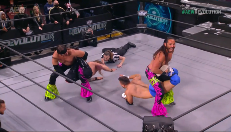 AEW Revolution Results: The Inner Circle (MJF & Chris Jericho) vs. The Young  Bucks (Matt & Nick Jackson) [AEW World Tag Team Championship Match] - The  Overtimer