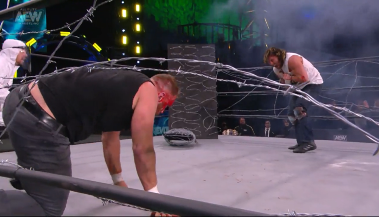 AEW Revolution Results: Jon Moxley vs. Kenny Omega [AEW World Championship Exploding Barbed Wire Deathmatch]