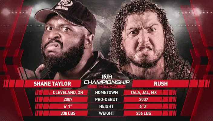 Ring Of Honor Results: Shane Taylor vs. RUSH [ROH World Championship Match]
