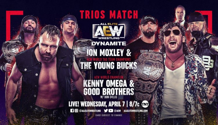 AEW Dynamite Results: Jon Moxley & The Young Bucks vs. Kenny Omega & The Good Brothers