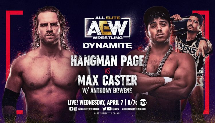 AEW Dynamite Results: Hangman Page vs. Max Caster