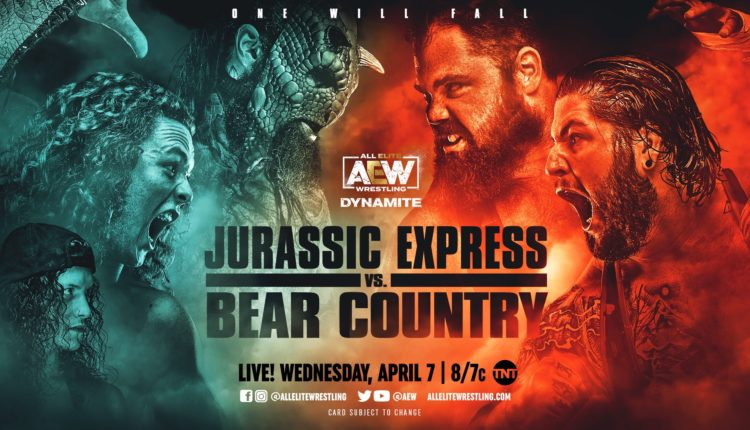 AEW Dynamite Results: Jurassic Express (Jungle Boy & Luchasaurus) vs. Bear Country (Bear Boulder & Bear Bronson)