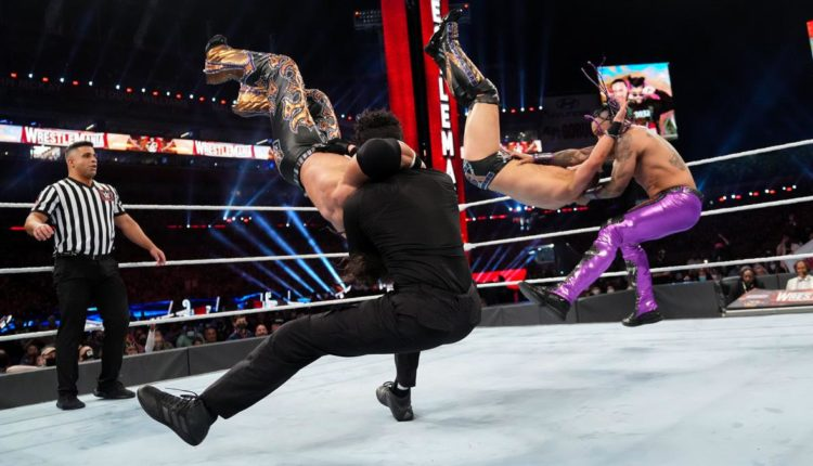 WWE Wrestlemania 37 Night One Results: Bad Bunny & Damien Priest Defeat The Miz & John Morrison With Doomsday Cross-Bunny