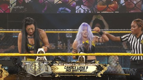 WWE NXT Results: Candice LeRae & Indi Hartwell Defeat Ember Moon & Shotzi Blackheart To Become New NXT Women's Tag Team Champions