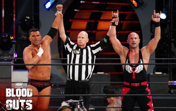 AEW Blood & Guts Results: SCU Overcome The Acclaimed, Jurassic Express, and Varisty Blondes To Earn Tag Title Shot