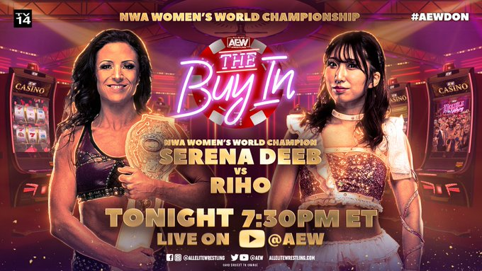 AEW Double Or Nothing Results Buy In: Riho vs. Serena Deeb (NWA Women's Championship)
