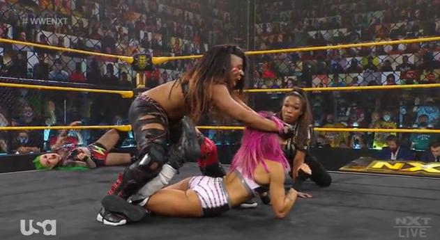 WWE NXT Results: Shotzi Blackheart & Ember Moon Defeat Raquel Gonzalez & Dakota Kai, Gonzalez Assaults Blackheart After The Bell