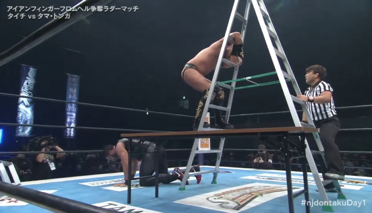 NJPW Wrestling Dontaku Night One Results: Taichi Claims Iron Fingers From Hell In Horrible Ladder Match With Tama Tonga