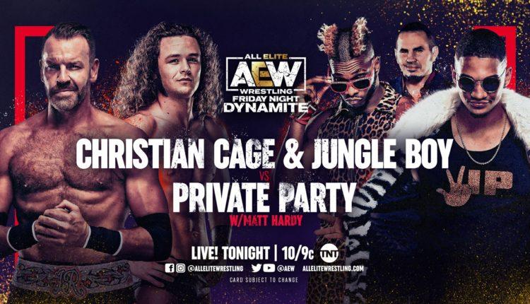 AEW Dynamite Results: Jungle Boy & Christian Cage Defeat Private Party Via Snare Trap
