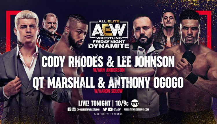 AEW Dynamite Results: QT Marshall and Anthony Ogogo Defeat Cody Rhodes and Lee Johnson After KO Punch