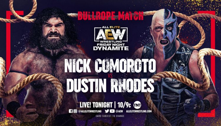 AEW Dynamite Results: Dustin Rhodes Brutalizes Nick Comoroto In Bull-Rope Match