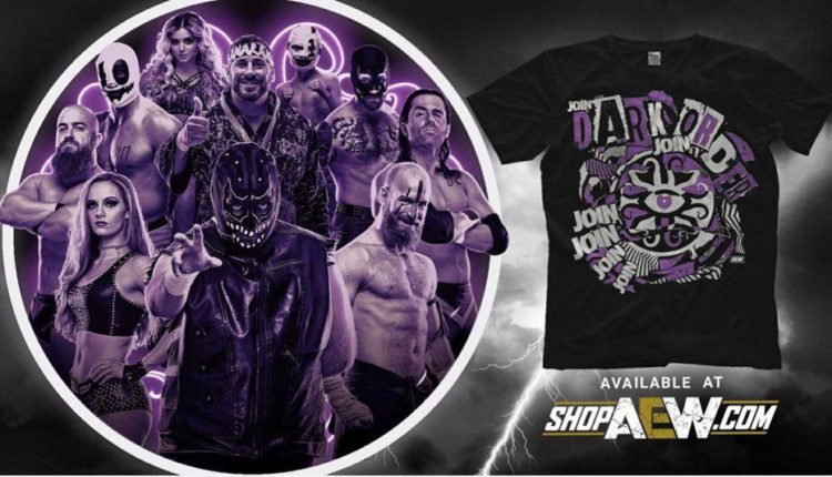 Tay Conti Featured On Ad For New Dark Order Shirt